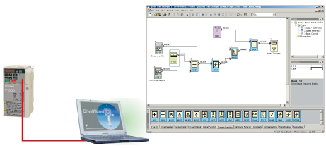 ビジュアルプログラミング機能DriveWorksEZを搭載